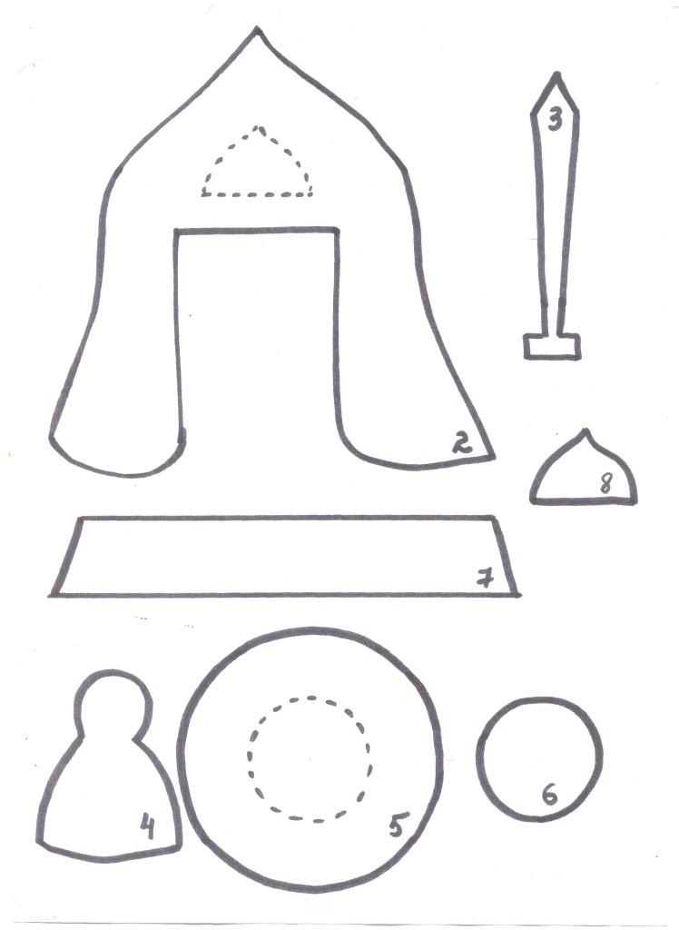 Богатырский шлем из бумаги своими руками 65