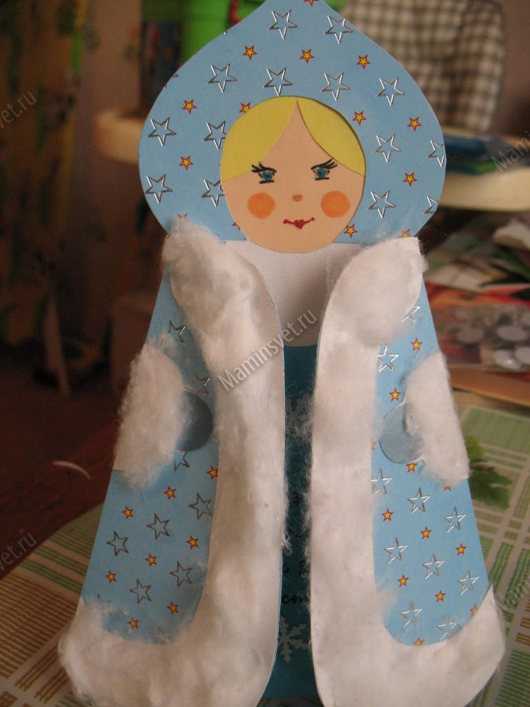 Открытка снегурочка своими руками
