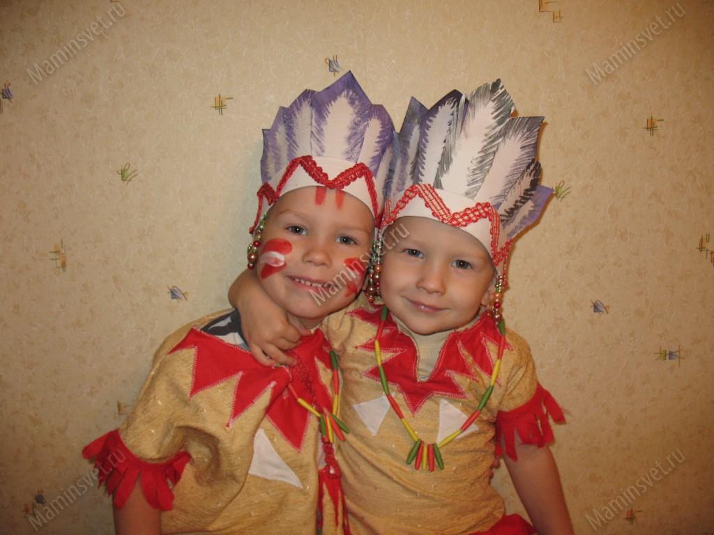 Головной убор индейца детский своими руками 48