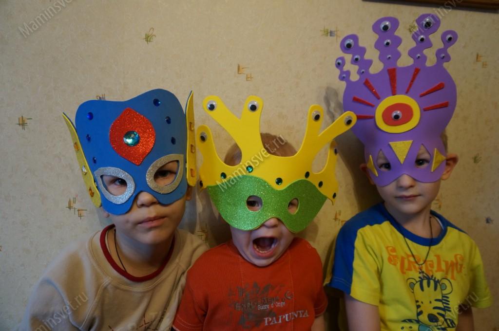 Детские маски своими руками фото