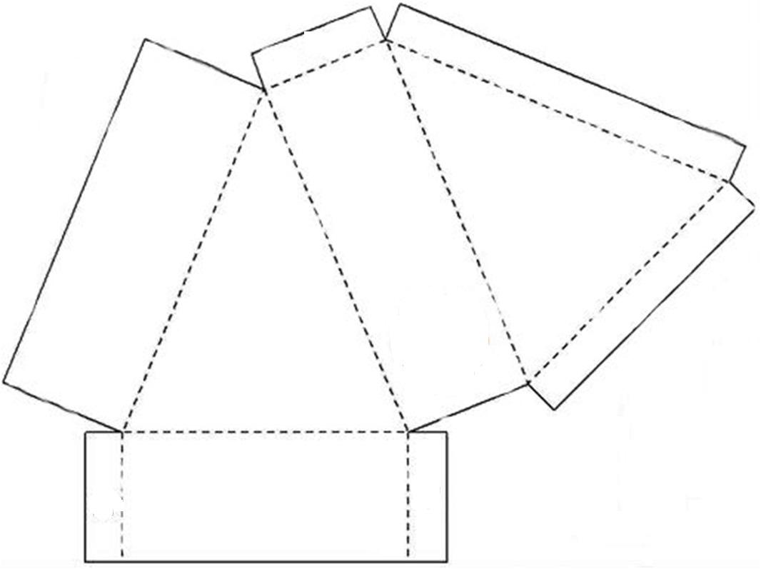 Коробочка треугольная шаблон